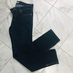 J Brand The Deal Skinny Jeans Ankle Zip EUC Ink